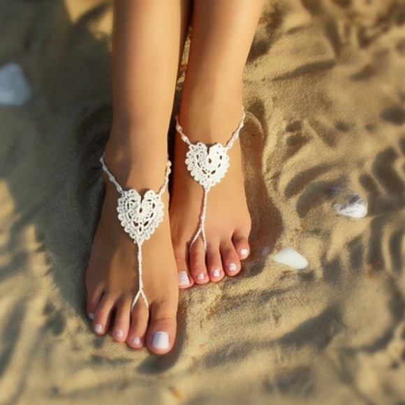 Vivid Rose Shop Accessories - NAVY BLUE  Barefoot Sandals